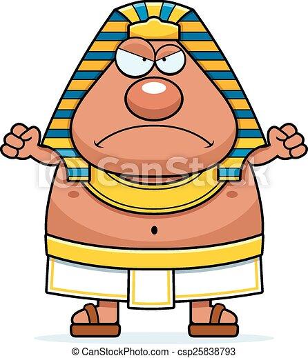 angry cartoon egyptian pharaoh a cartoon illustration of an eps rh canstockphoto com pharaoh clipart black and white pharaoh clipart black and white