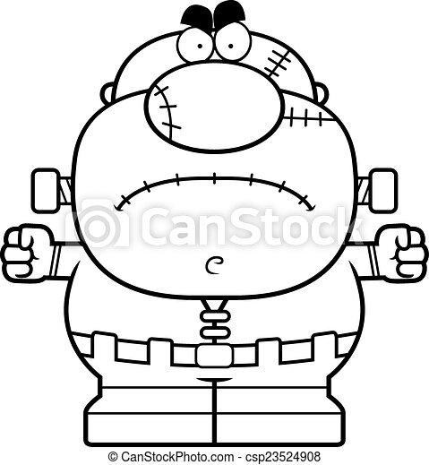 Angry Cartoon Frankenstein - csp23524908
