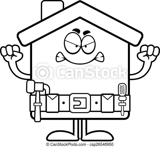 angry cartoon home improvement a cartoon illustration of a home