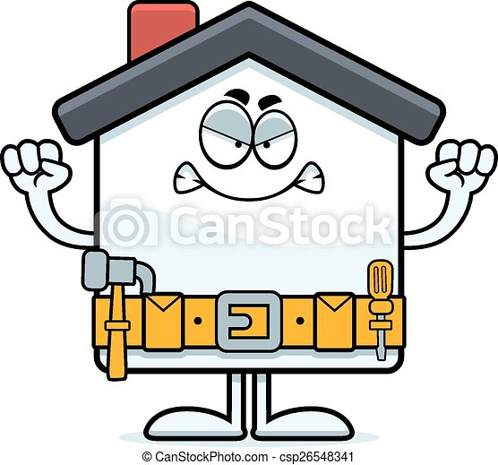 angry cartoon home improvement a cartoon illustration of a eps rh canstockphoto com Home Improvement Tools Clip Art Home Improvement Tools