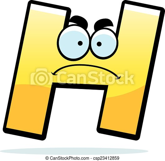 angry cartoon letter h a cartoon illustration of a letter h rh canstockphoto co uk letter h clipart black and white Decorative Letter H