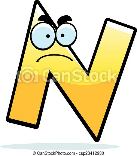 angry cartoon letter n a cartoon illustration of a letter n rh canstockphoto com letter m clipart letter m clipart