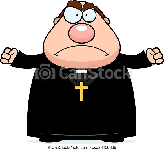 angry cartoon priest a cartoon illustration of a priest vector rh canstockphoto com priest clipart free priest clipart png