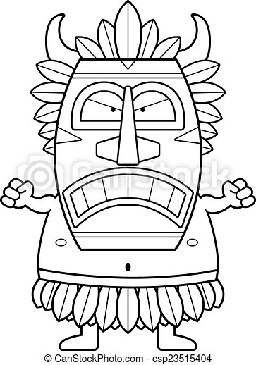 Angry Cartoon Witch Doctor - csp23515404