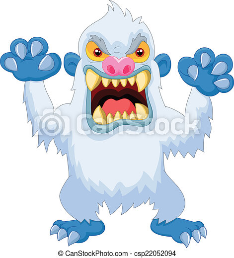 Angry cartoon yeti - csp22052094