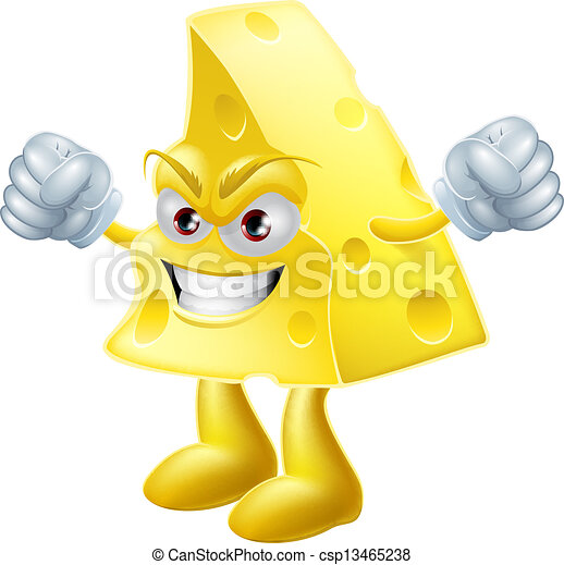 Angry cheese man - csp13465238