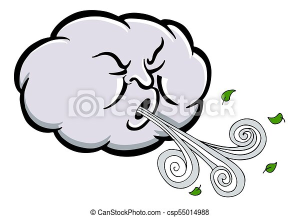 Angry Cloud Blowing Wind - csp55014988
