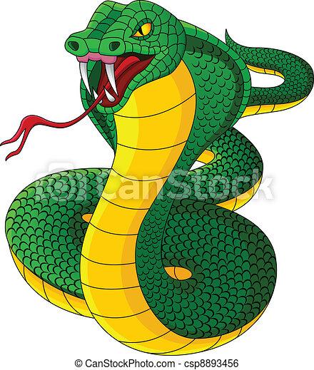 Angry cobra cartoon - csp8893456