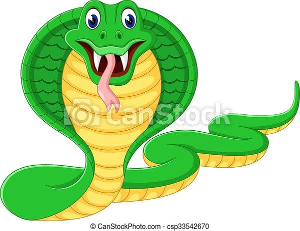 Angry cobra cartoon - csp33542670