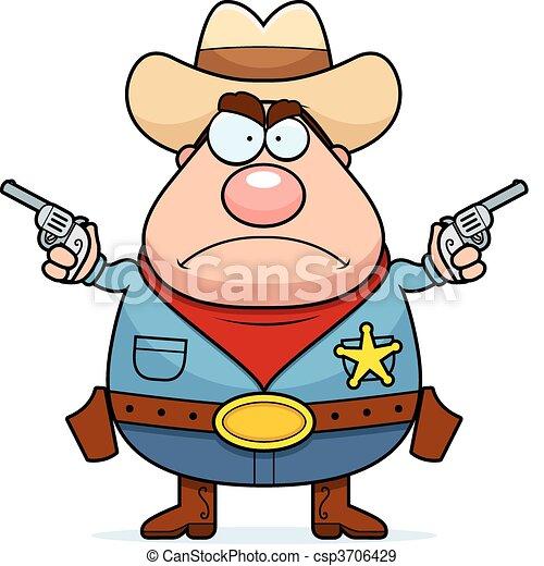 Angry Cowboy - csp3706429