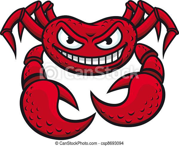 Angry crab mascot - csp8693094