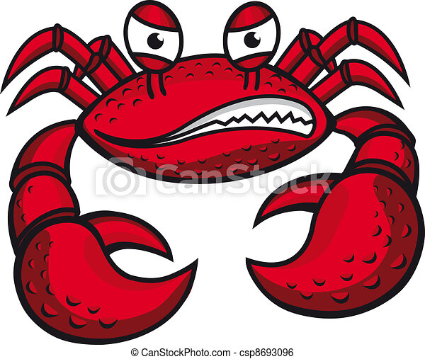 Angry crab with claws - csp8693096