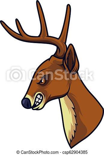 Angry deer head mascot - csp62904385