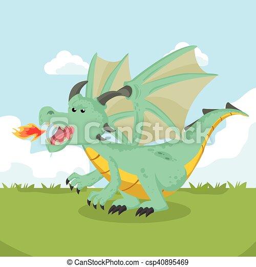 angry dragon - csp40895469
