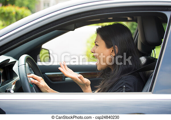 Angry driver - csp24840230