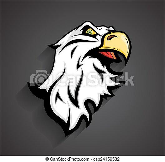 Angry Eagle Head Mascot Tattoo - csp24159532
