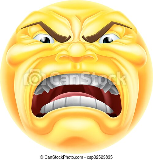 angry emoji emoticon a cartoon angry emoji emoticon icon character