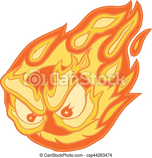 angry eyes fireball vector clip art cartoon vector clip art cartoon rh canstockphoto com fireball clipart