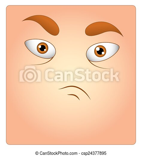 Angry Face Box Smiley - csp24377895