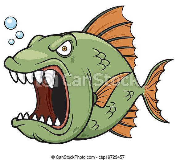 Angry fish - csp19723457