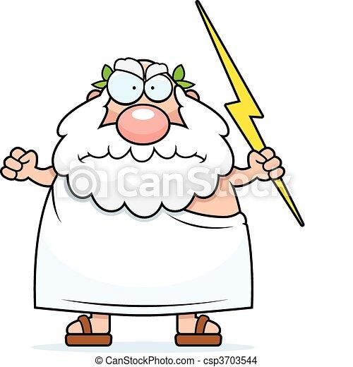 Angry Greek God - csp3703544