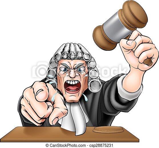 Angry Judge - csp28875231