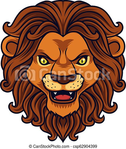 Angry lion head mascot - csp62904399
