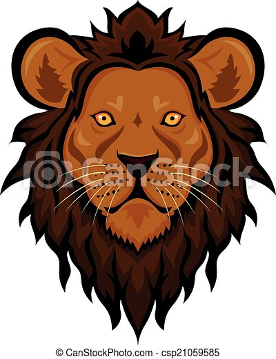 Angry lion head mascot - csp21059585