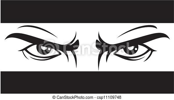 angry look (Bad eyes) - csp11109748