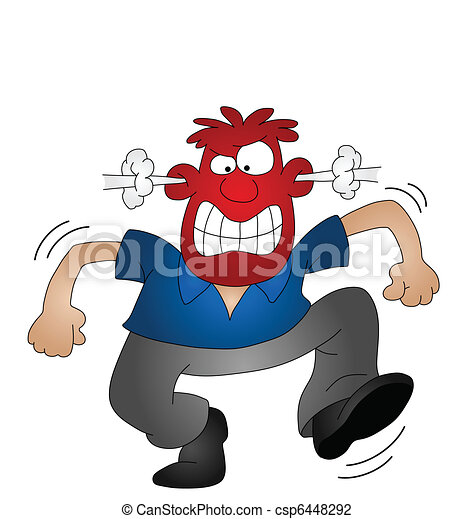 cartoon angry man isolated on white background vector illustration rh canstockphoto com angry man clipart free angry old man clipart