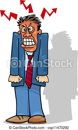 angry man or businessman - csp11470292