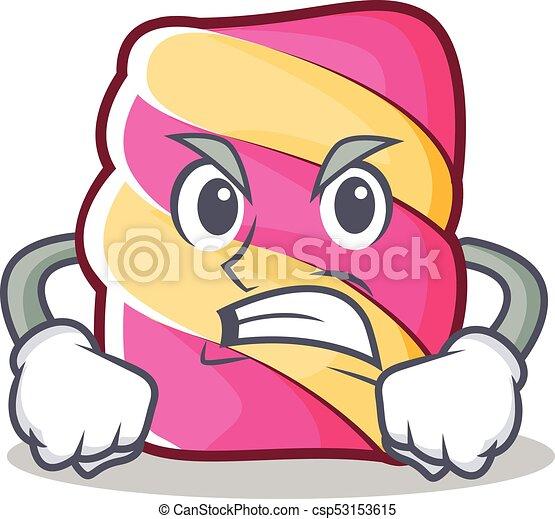 angry marshmallow character cartoon style vector vector clip art rh canstockphoto com clipart marshmallow man clipart marshmallow man