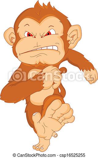 angry monkey cartoon - csp16525255