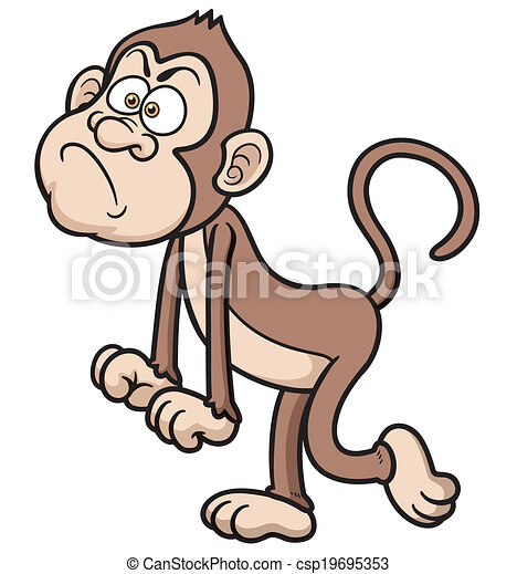 vector illustration of cartoon angry monkey clipart vector search rh canstockphoto com monkey vector cute monkey vector cartoon