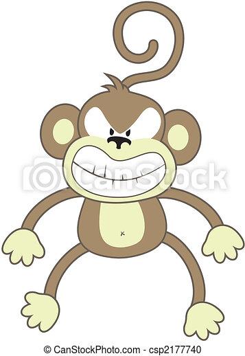 Monkeys doing different actions illustration Premium Vector