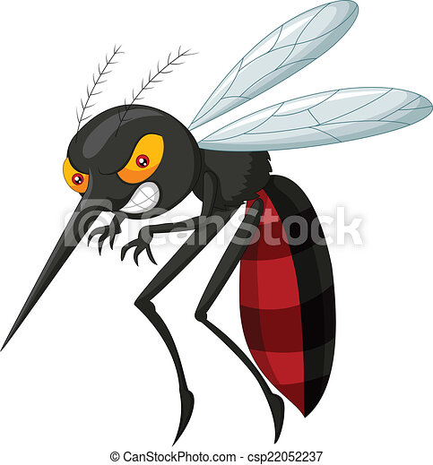 Angry mosquito cartoon - csp22052237