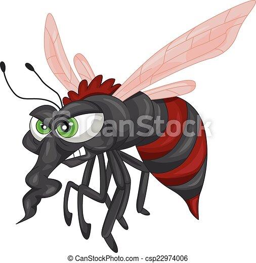 Angry mosquito cartoon - csp22974006