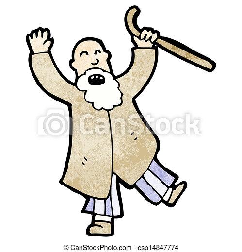 angry old man cartoon - csp14847774