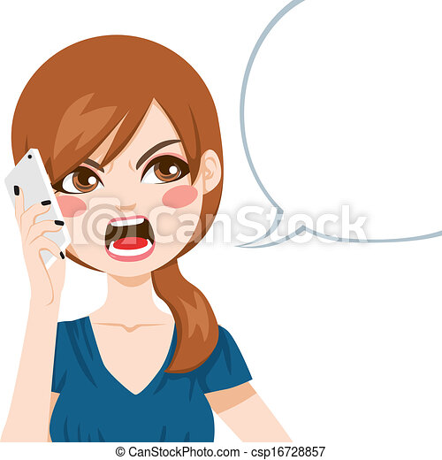 Angry Phone Call - csp16728857