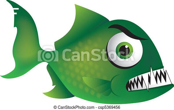 angry piranha a piranha cartoon illustration with an angry rh canstockphoto com piranha clip art commercial free piranha clipart