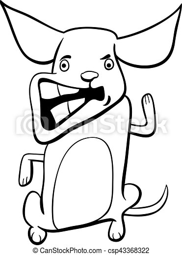 Coloring Page of Dog With Bone - Free Clip Art | 470x334