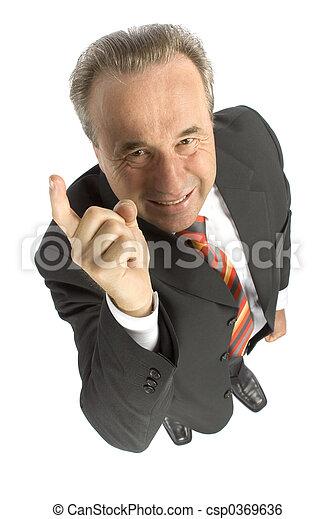 angry senior businessman - csp0369636