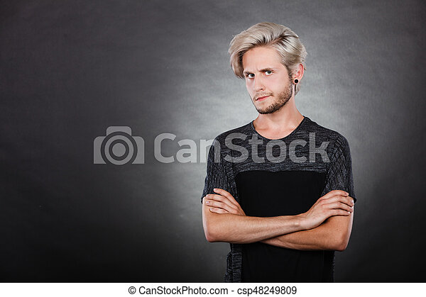 Angry Serious Young Man Negative Emotion
