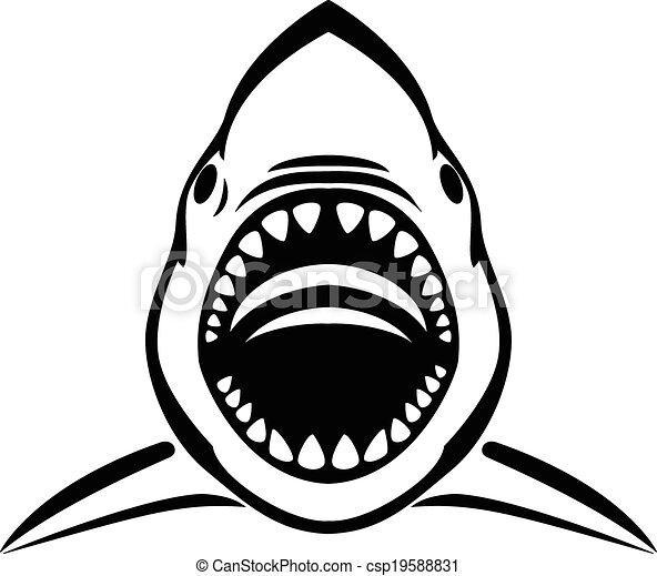 Angry Shark Tattoo