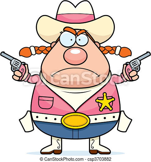 Angry Sheriff - csp3703882