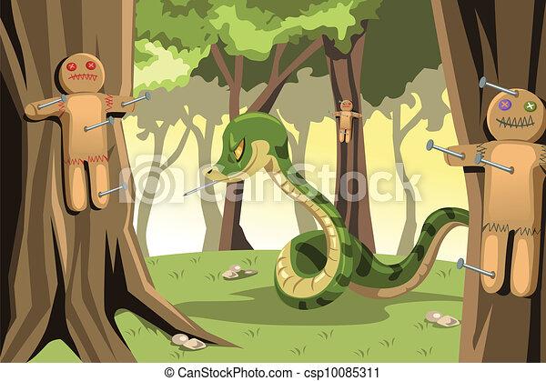 Angry snake - csp10085311