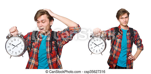 Angry student missing his deadlines - csp35627316