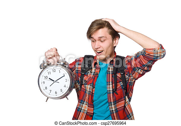 Angry student missing his deadlines - csp27695964