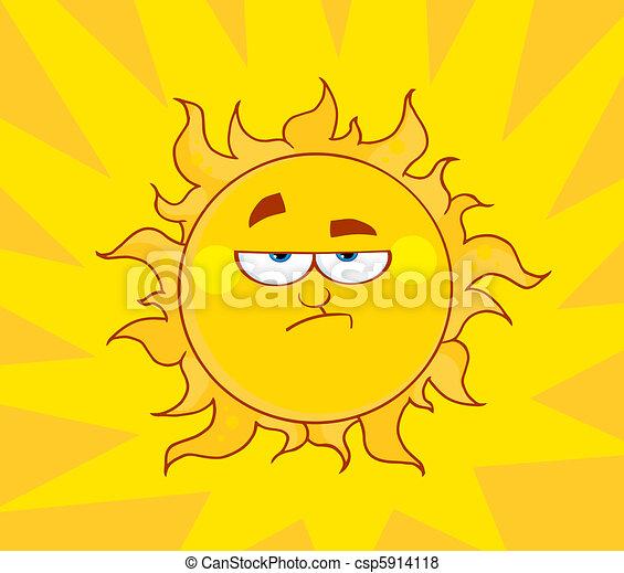 Angry Sun  - csp5914118