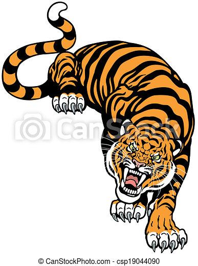angry tiger - csp19044090
